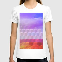 Ultra Surreal Countryside Violet Rainbow T-shirt