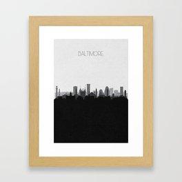 City Skylines: Baltimore (Alternative) Framed Art Print