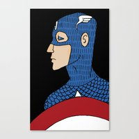 captain Canvas Prints featuring Captain by nu boniglio