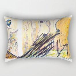 X voYages de Zed (toile 13 - série 1) Rectangular Pillow