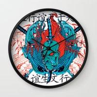 oriental Wall Clocks featuring Oriental by Tshirt-Factory