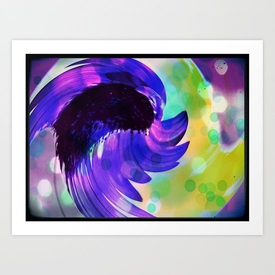 Purple Sunflower Swirl Art Print