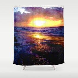 Atlantic Ocean Sunrise Shower Curtain