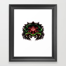 Super Metroid: Angry Baby Graphic Framed Art Print