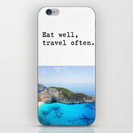 Eat well Island iPhone Skin