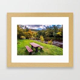 Snowdonia River Autumn Framed Art Print