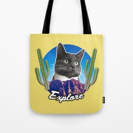 Cat Explorer Tote Bag