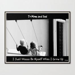Dear Mom & Dad Prayer Canvas Print