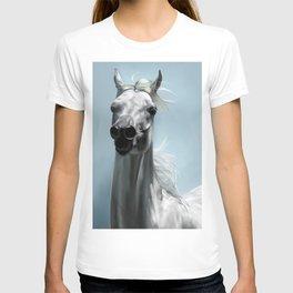 Arabian White Horse Painting T-shirt