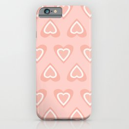 Love In Spring Time - Peachy Pink iPhone Case