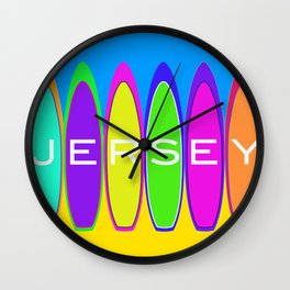 Surf's Up in Jersey Wall Clock