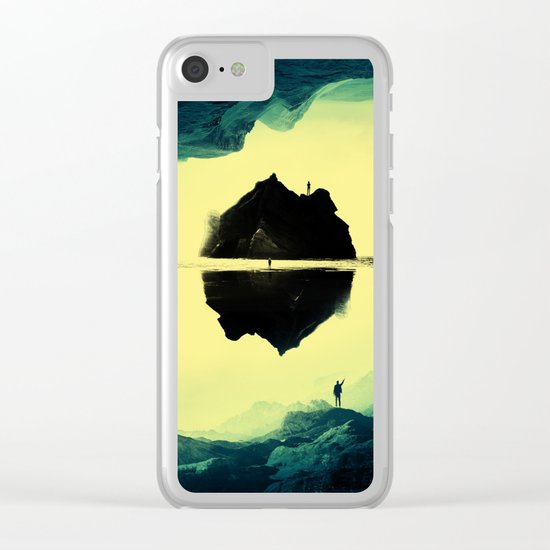 Triple Isolation in Green Clear iPhone Case