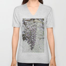 Wisteria Abstract Unisex V-Neck