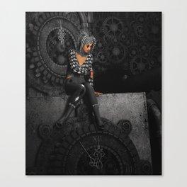 The Time Runs Off Canvas Print