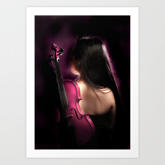 VIOLIN WOMAN Art Print