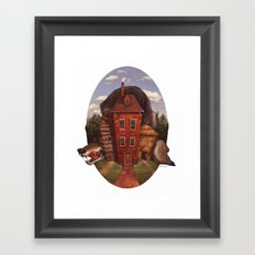A Wolf at the Door Framed Art Print