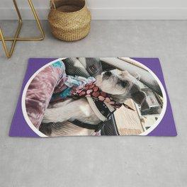 Schnauzer Art Purple Rug