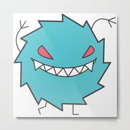 Cute Little Monster - Agressive Metal Print