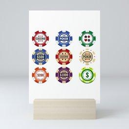 Casino Poker Chips National Nevada Day Mini Art Print