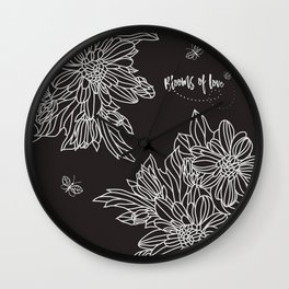 Blooms of Love_Cocoa Bean Wall Clock