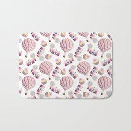 hot-air balloons, cameras and cupcakes Bath Mat