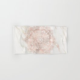 Rose Gold Mandala Marble Hand & Bath Towel
