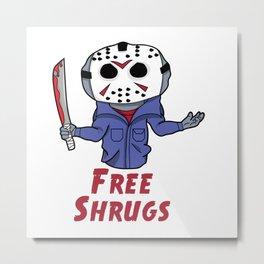 Free Shrugs Metal Print