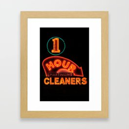1 Hour Cleaners Framed Art Print