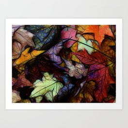 Fall leaves Abstract Art Print