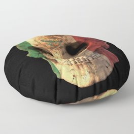 Mexican Flag Skull Design for Men and Women Floor Pillow