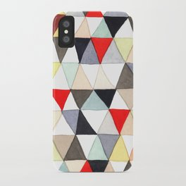 Geometric Pattern Watercolor & Pencil Robayre iPhone Case