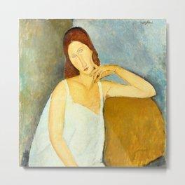 "Amedeo Modigliani ""Jeanne Hebuterne"" Metal Print"