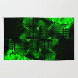Night Spin Green Rug