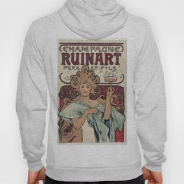 Alphonse Mucha - Champagne Ruinart (Father and Son) (1896) Hoody