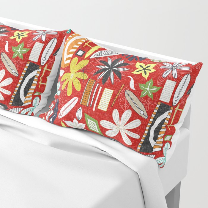 beachy red Pillow Sham
