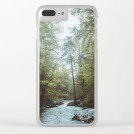 Peaceful Forest, Green Trees and Creek, Relaxing Water Sounds Clear iPhone Case