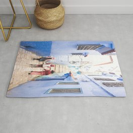 Sunny days Ahead - Chefchaouen, Morocco - The Blue City Rug