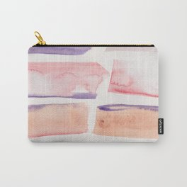 19   | 190301 Watercolour Painting Abstract Pattern Peach Orange Pink Red Carry-All Pouch
