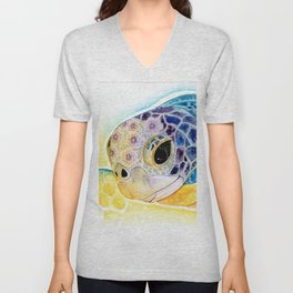 Crystal Turtle Unisex V-Neck