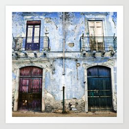 BLUE FACADE of SICILY Art Print