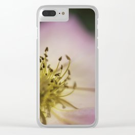 Pink Wild Rose Clear iPhone Case