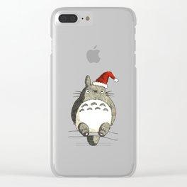 Totoroo Studio Ghibli Christmas Clear iPhone Case