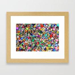 Rainbow Sprinkles - cupcake toppings galore Framed Art Print