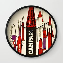 Rare Vintage Bitter Cordial Campari Rocket Advertising Poster Wall Clock