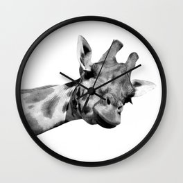 Black and white giraffe Wall Clock