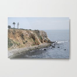Point Vicente Lighthouse in Spring Metal Print