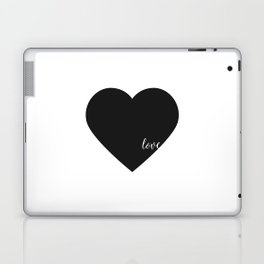 HEART WALL DECOR, Heart Print,Black Heart,Love Quote,love Art,Lovely Words,Printable Art,Love Decor, Laptop & iPad Skin
