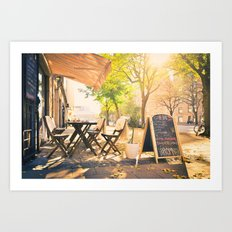 Swedish Sunsets & Coffee Art Print