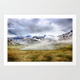 Lago Ercina in National park Picos de Europa Art Print