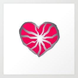 Broken Heart Fuchsia Art Print